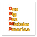 Anti Obama Square Car Magnet 3