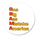Anti Obama Round Car Magnet