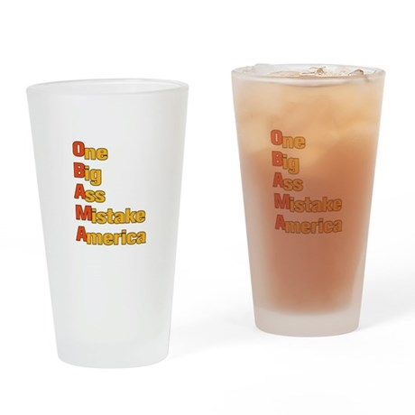 Anti Obama Drinking Glass