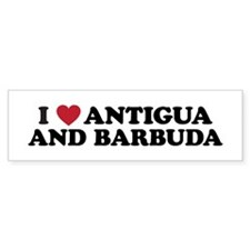 I Love Antigua and Barbuda Bumper Sticker