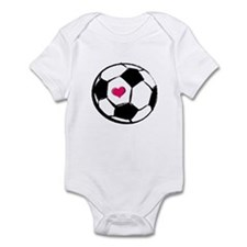 Soccer Heart Infant Bodysuit