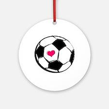 Soccer Heart Ornament (Round)