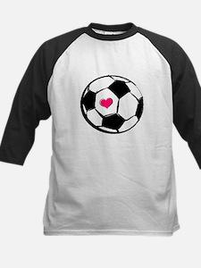Soccer Heart Kids Baseball Jersey