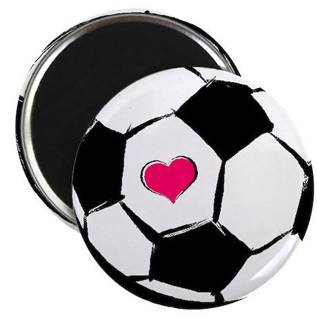 Soccer Heart Magnet