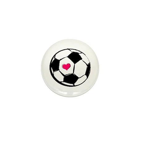 Soccer Heart Mini Button