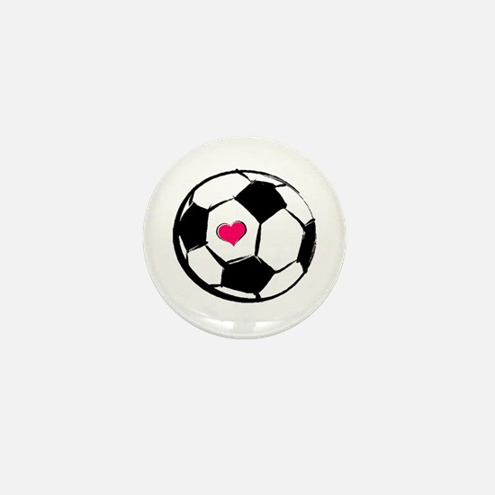 Soccer Heart Mini Button