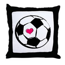 Soccer Heart Throw Pillow