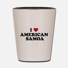 I Love American Samoa Shot Glass
