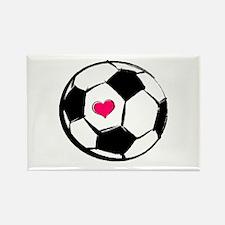 Soccer Heart Rectangle Magnet