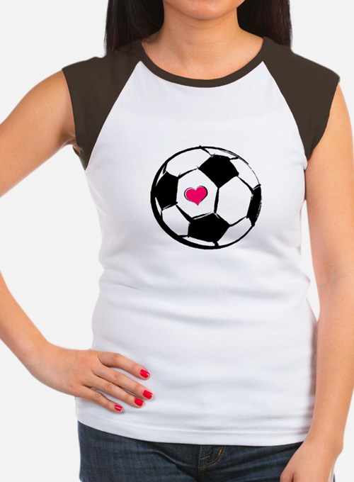 Soccer Heart Women's Cap Sleeve T-Shirt