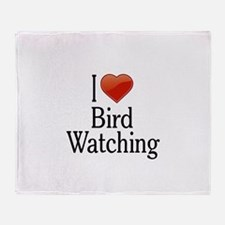 I Love Bird Watching Throw Blanket