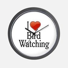 I Love Bird Watching Wall Clock