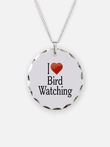 I Love Bird Watching Necklace
