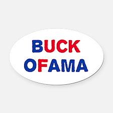 Anti-Obama Oval Car Magnet