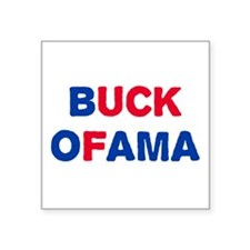 "Anti-Obama Square Sticker 3"" x 3"""