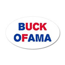 Anti-Obama 20x12 Oval Wall Decal