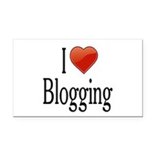 I Love Blogging Rectangle Car Magnet