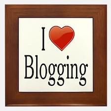 I Love Blogging Framed Tile