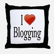 I Love Blogging Throw Pillow