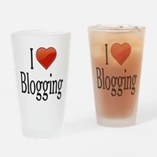 I Love Blogging Drinking Glass