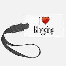 I Love Blogging Luggage Tag