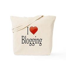 I Love Blogging Tote Bag