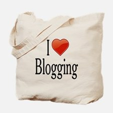 I Love Blogging Tote Bag