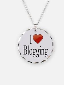 I Love Blogging Necklace