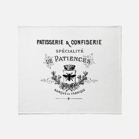 Patisserie-Sign Throw Blanket