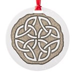 Celtic Knotwork Coin Round Ornament