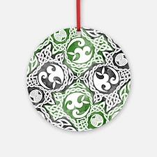 Celtic Knotwork Puzzle Square Ornament (Round)