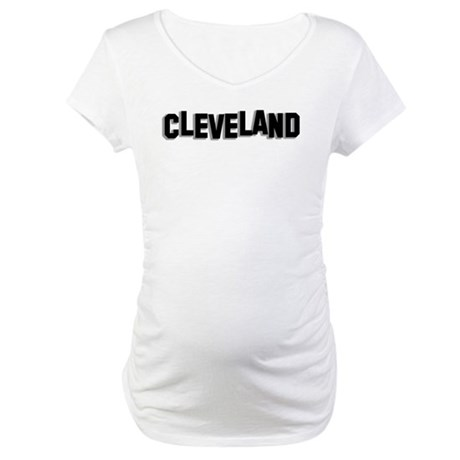 Cleveland Hollywood sign Maternity T-Shirt