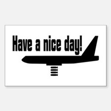 Have a nice day! Sticker (Rectangle)