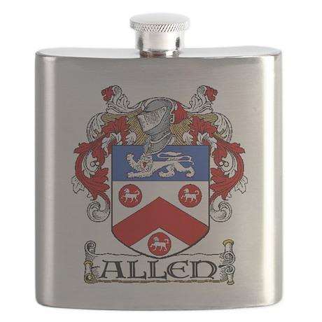 Allen Coat of Arms Flask