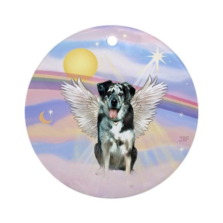 CLouds-Catahoula LD Angel Ornament (Round)