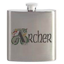 Archer Celtic Dragon Flask