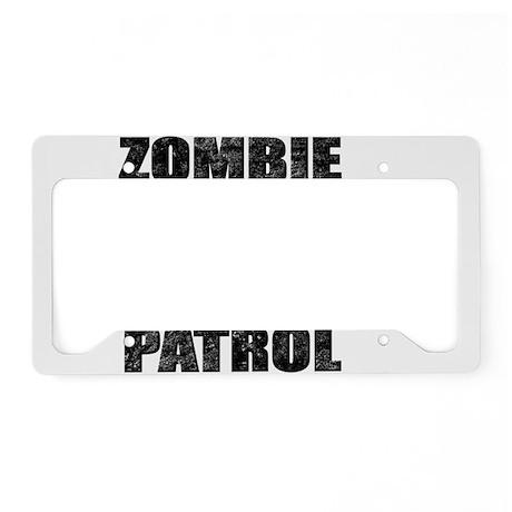 ZOMBIE PATROL License Plate Holder