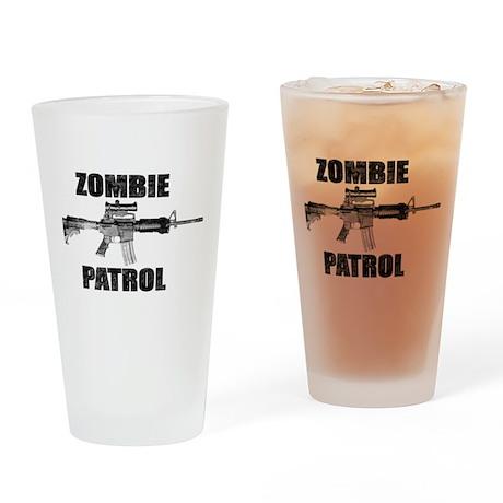 ZOMBIE PATROL Drinking Glass