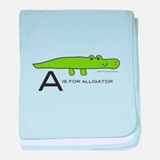 A is for Alligator baby blanket