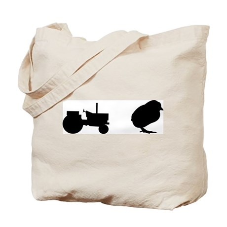 Tractor Chick Tote Bag