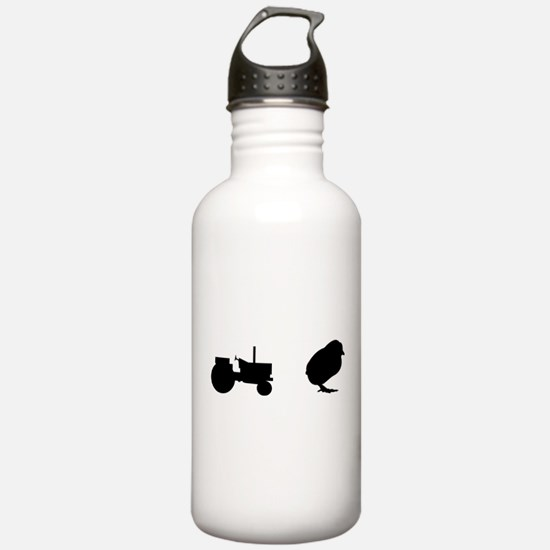 Tractor Chick Water Bottle