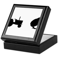 Tractor Chick Keepsake Box