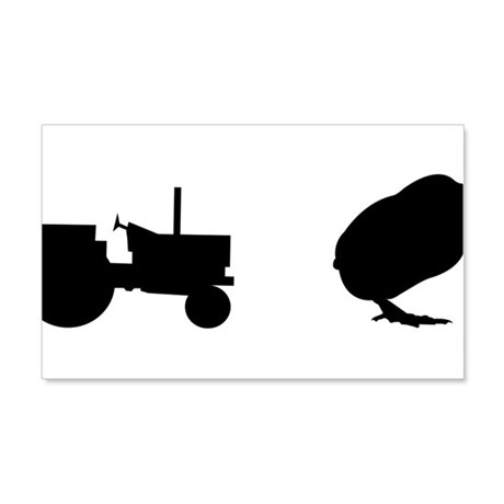 Tractor Chick 20x12 Wall Decal