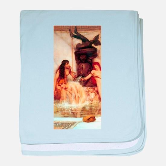 Alma-Tadema - Strigils & Sponges baby blanket