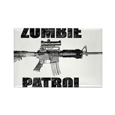 ZOMBIE PATROL Rectangle Magnet