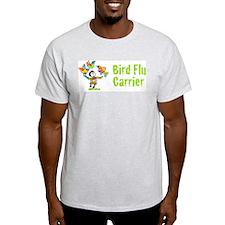 Bird Flu Carrier Ash Grey T-Shirt