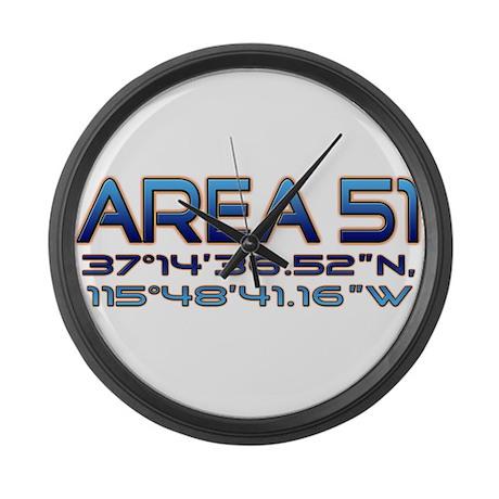 Area 51 coordinates Large Wall Clock