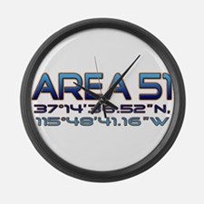 Area 51 coordinates Large Wall Clock