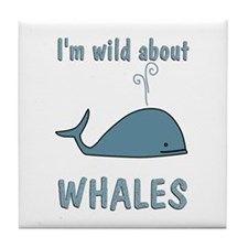Wild About Whales Tile Coaster