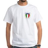 Forza azzuri Mens Classic White T-Shirts